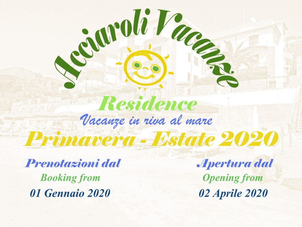 Acciaroli Vacanze Residence - Opening 2020